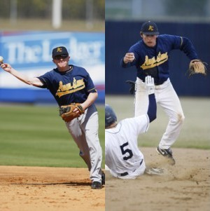John Wagle and Mark Ramos, two of the most productive hitters Augustana has ever had