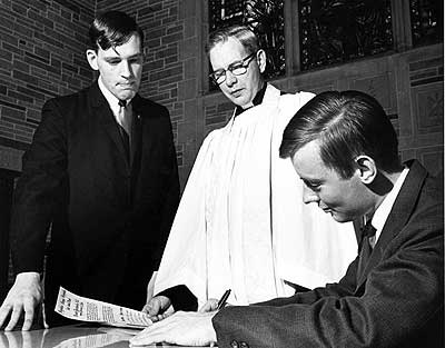 1966 Signing the Campus Church charter
