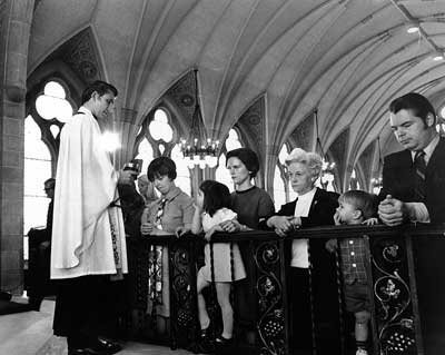 1970 Holy Communion in the College Chapel