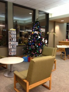 The tree on the second floor of the Library