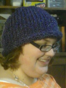 This is the first hat I made on the loom