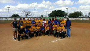 Group picture with one of the teams we played in the D.R.