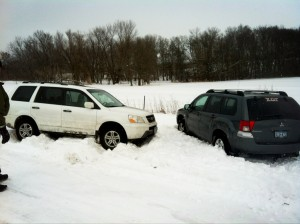 Both stuck.