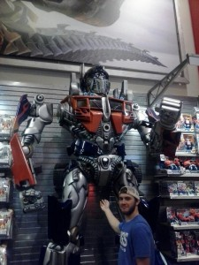 Optimus Prime and Seth Hardcastle who happened to be vacationing in New York while I was living there.