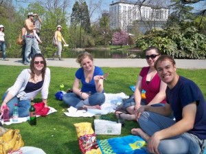 Maria, Mary, Me, and Ben at Stadtpark