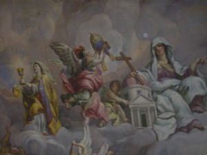Paintings on the ceiling of the Karlskirche
