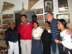Nick and Jimmy with the Ecuadorians
