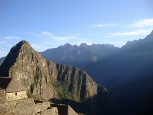 sunrise at Machi Picchu