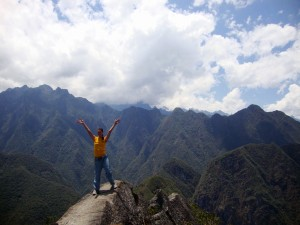 me on top of Huayna Picchu