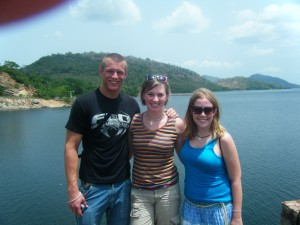 Jessi, Brandon, and me at Lake Volta... it was beautiful!