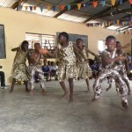 Some of the kids performing a traditional dance for us