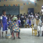 children at Anani School performing a play for us... ADORABLE!