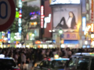 Shibuya Crossing, once the pedestrians get the green light...Pandemonium!