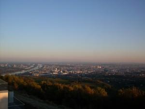 Vienna, as night falls.