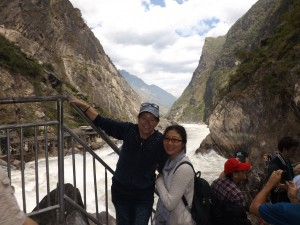 Dr. Zhang and Dr. Smith at the Tiger Leaping Gorge