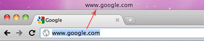 URL is Dragged from Address Bar to Desktop