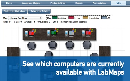 See which computers are currently available with LabMaps