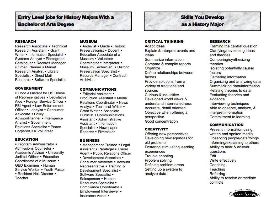 list of job skills for a resumes