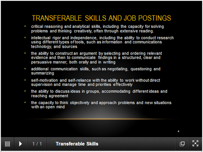 Cover letter listing transferable skills